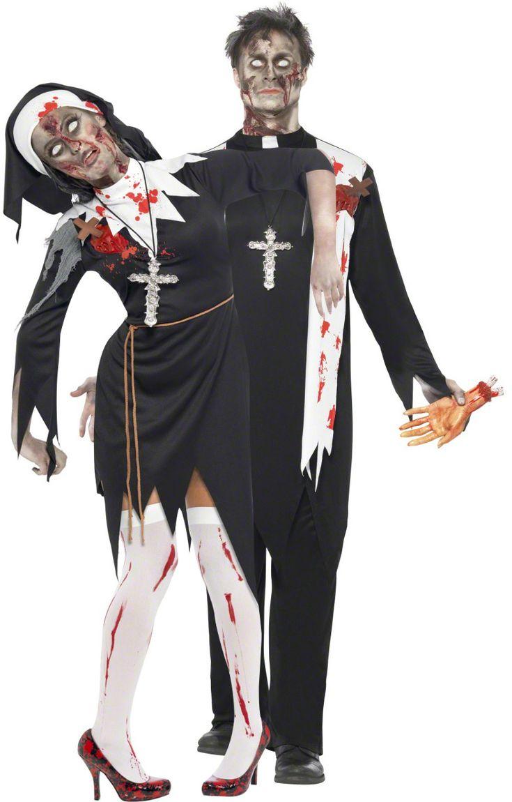 Déguisement couple religieux zombie Halloween : Deguise-toi, achat de Déguisements adultes