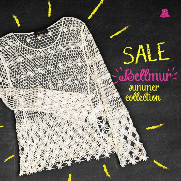 #SALE Countdown #Verano16  ¡Sigue el calor y también nuestro SALE 50% OFF en toda la Colección Verano 16 y #BellmurShoes de esta temporada!   - Blusa Net Malaquita // SWBELL103  Te esperamos en nuestro local de Montevideo Shopping