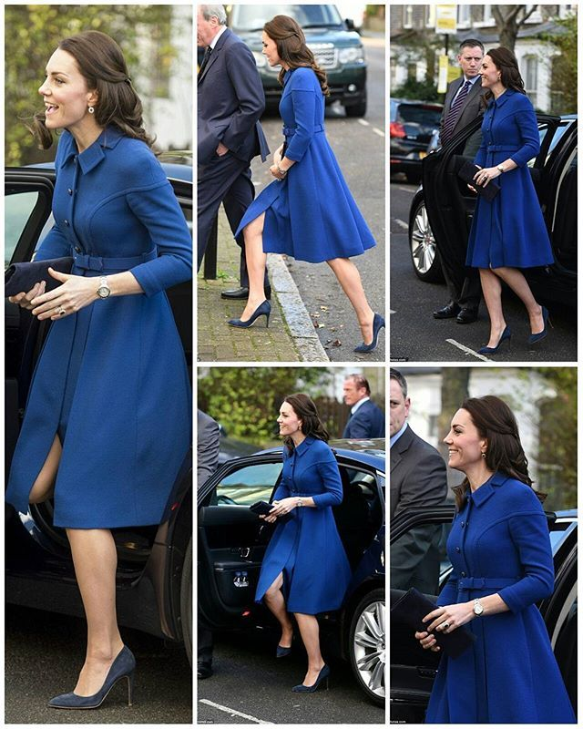 #NEWS #NEW #TODAY Catherine, The Duchess of Cambridge arrived at the Anna Freud National Centre for Children and Families in North London. She is wearing a dress by Eponine London, teamed with her trusty navy pumps by Rupert Sanderson. 11 Jan 2017 .