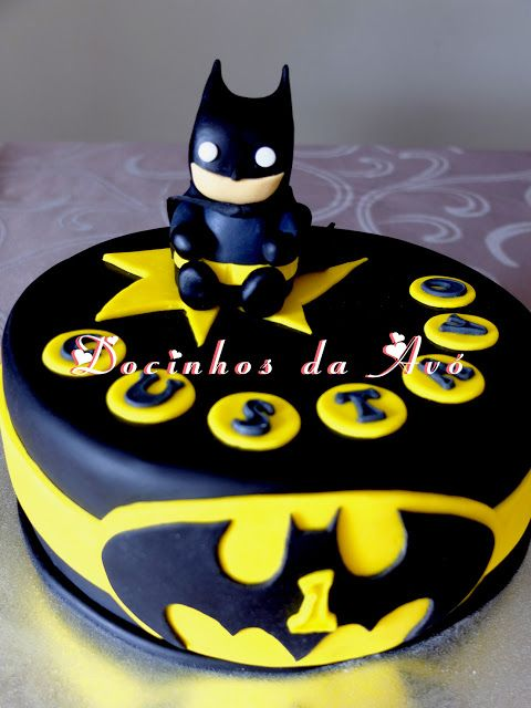 Docinhos da Avó - Cake and Party Design: Bolo Baby Batman