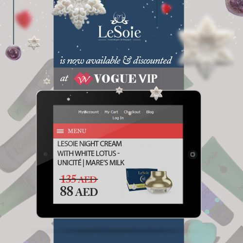 Check out our offers Vogue VIP and the awesome discounts we have there for the christmas time only ! http://goo.gl/HYfQ5O اعرفي المزيد عن عروضنا على موقع Vogue VIp خلال الكريسماس فقط, واحصلي على افضل المنتجات بأفضل الاسعار