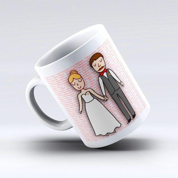 Fonu İsimli Evlilik Kupa Bardağı