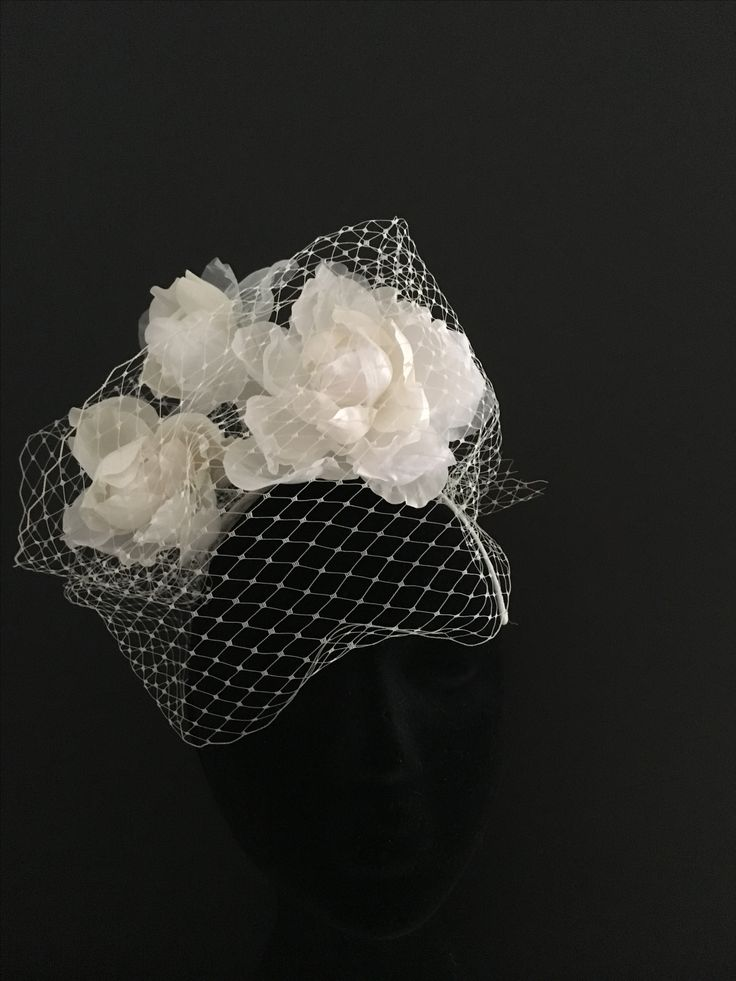 Beautiful ivory rose, ideal bridal headpiece