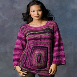 Square Deal Sweater  Free crochet pattern
