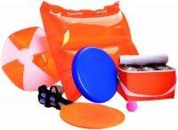 Souprava plážových potřeb, oranžová
