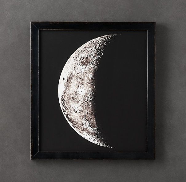 1896 Moon Photogravure Print. French astronomers Maurice Loewy and Pierre Puiseux began studying the moon via the lens of a camera. They published 6,000 photogravures in 1910, a landmark of astronomy photography both.