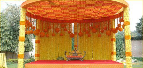 wedding mandap flower decorations - Google Search