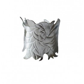 Pair of Orchid Napkin Rings by Miriam Hanid from miratis.com.  Sterling silver (40x40x40mm)   Gorgeous flat chased and pierced napkin rings with a flowing orchid leaf design.