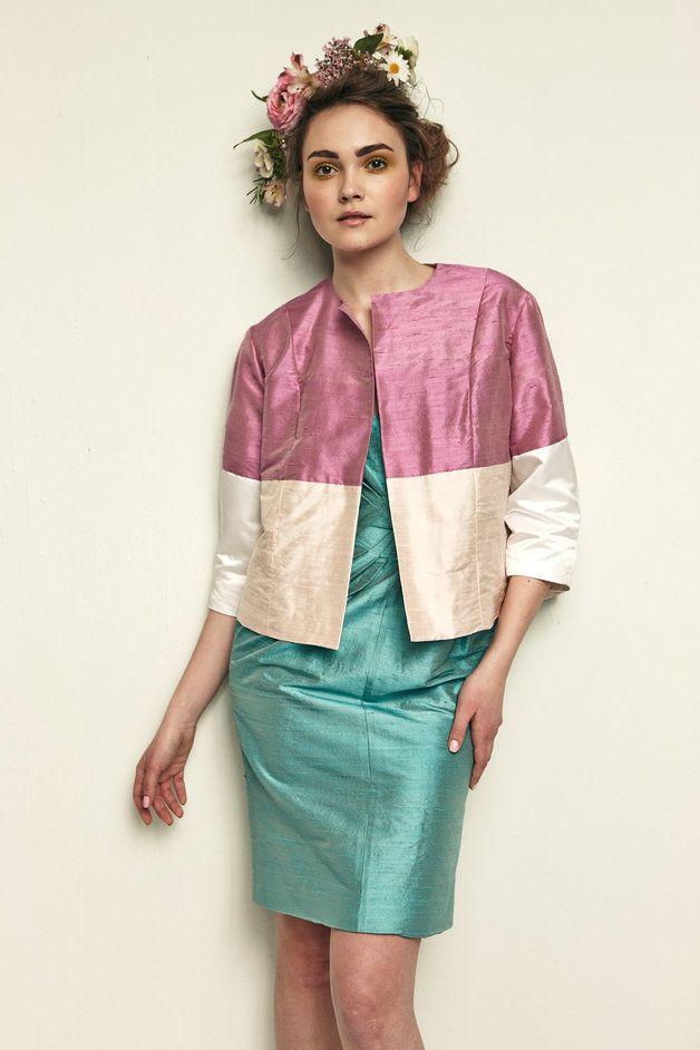 Boleros & Shrugs - s/s 2013 - Wedding 3/4 jacket - ein Designerstück von ZuzanaVesela bei DaWanda