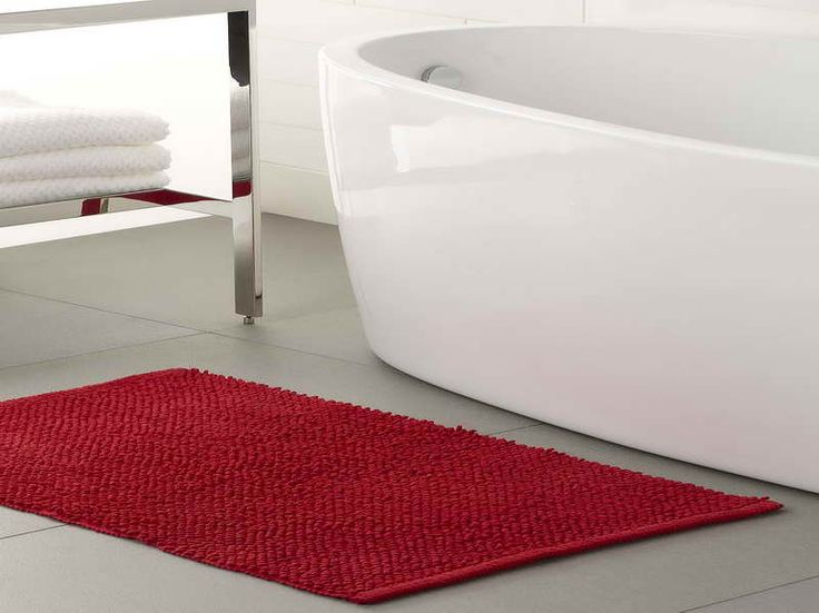 small red bathroom rug - Bathroom Carpet
