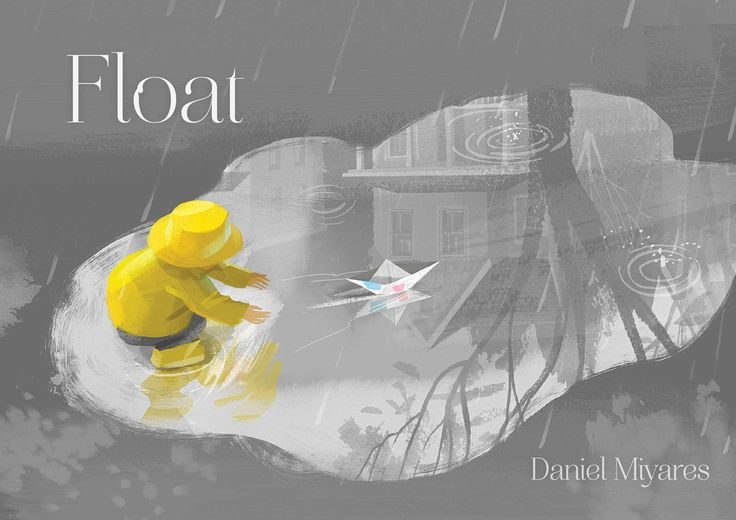 A boy heads out into the rain with a paper boat ... much excitement and tragedy…