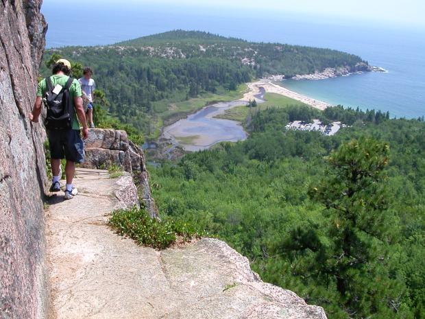 Rock climbing at acadia national park maine precipice for Acadia national park fishing