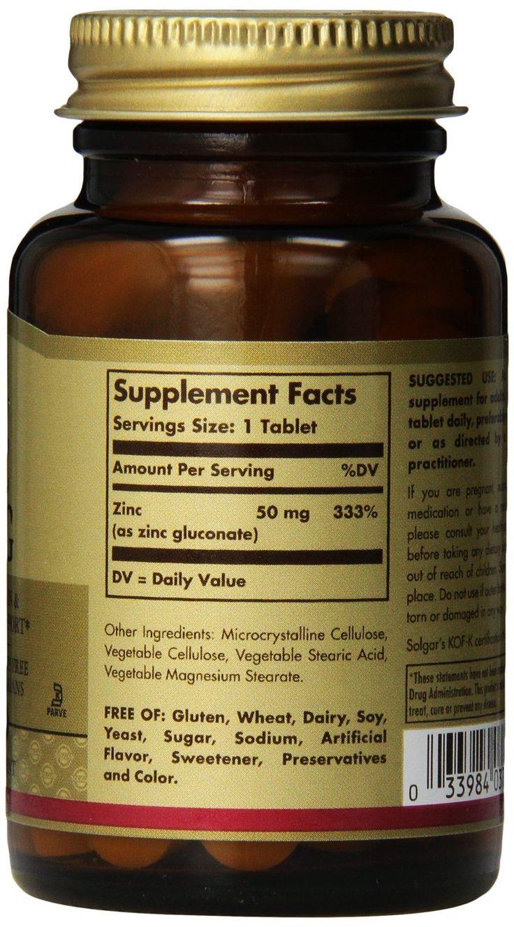 Solgar Zinc 50 mg 100 tabs: Amazon.co.uk: Health & Personal Care