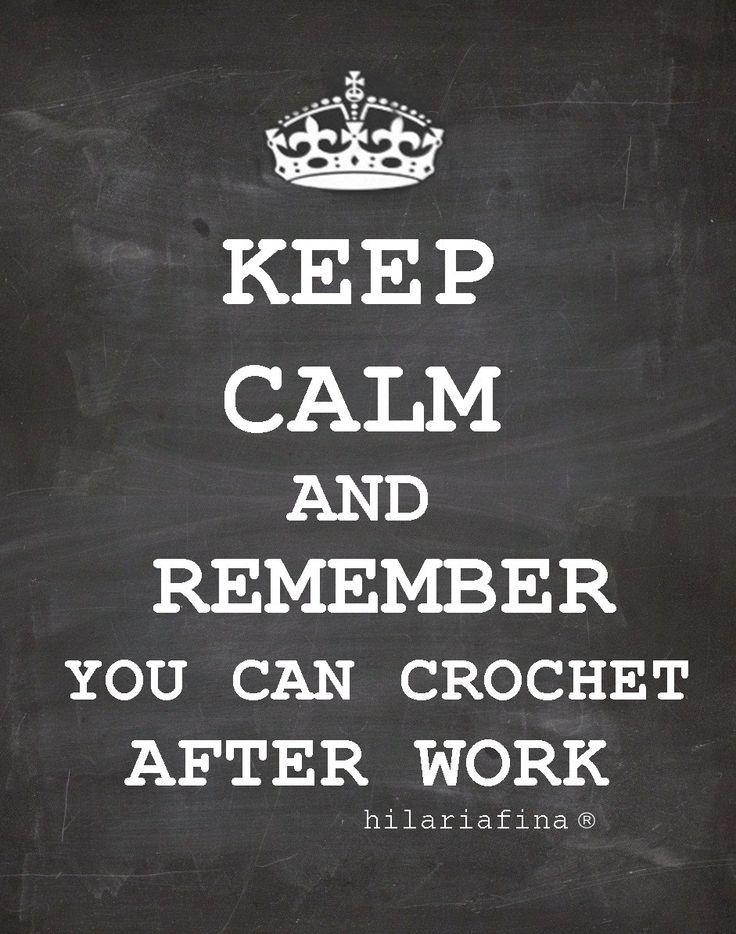 Keep Calm Crochet ❥ 4U // hf http://www.pinterest.com/hilariafina/