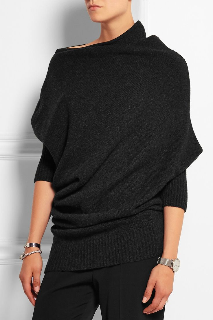Best 25  Black cashmere sweater ideas on Pinterest | Bequemes ...