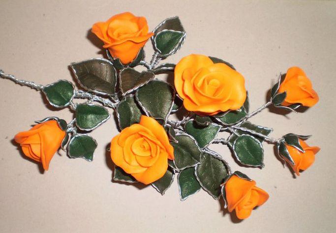 Autore: Teo Pinnetti  Bouquet di rose arancioni fatto a mano