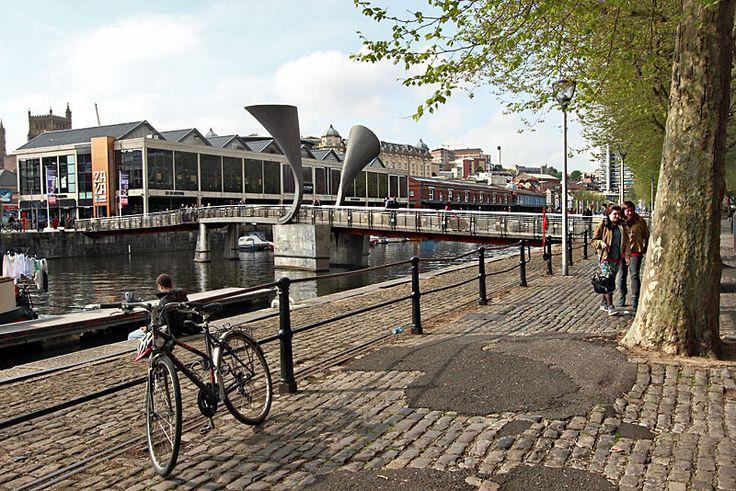 Pero's Bridge, a famous landmark in the Harbourside area of Bristol, England