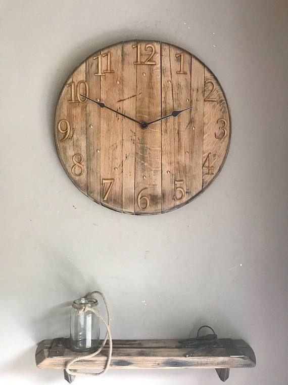 Clock - large wall clock - farmhouse