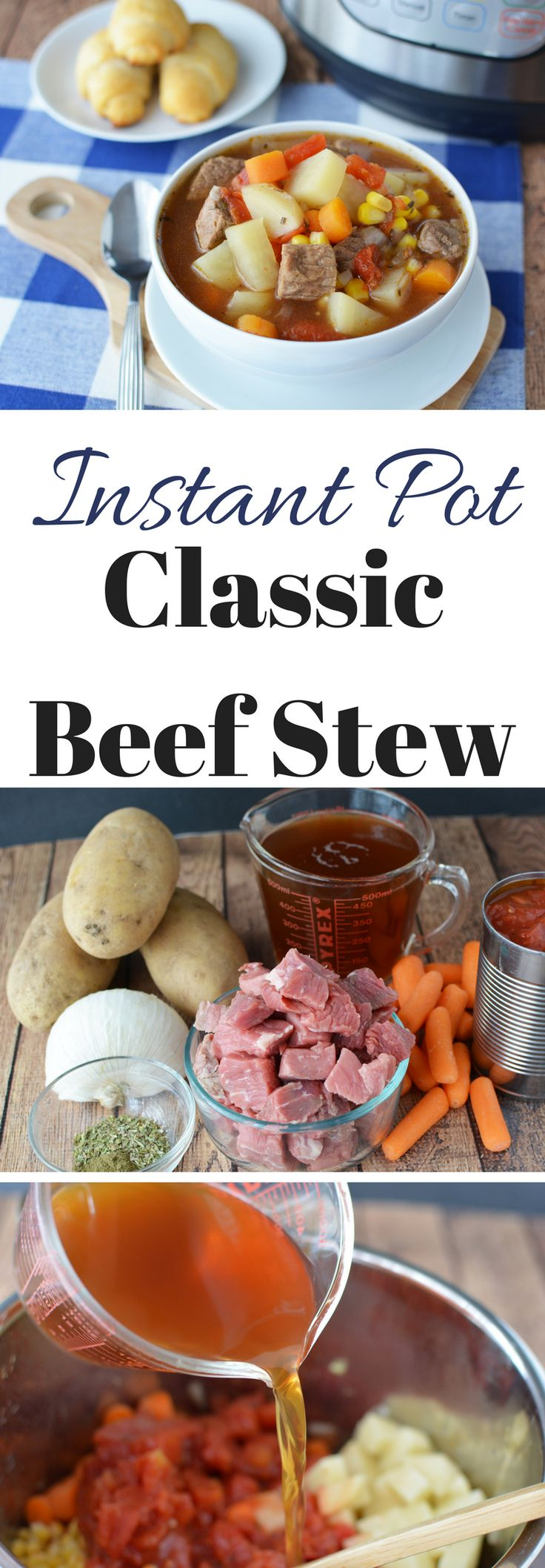 This Instant Pot Beef Stew Recipe uses basic ingredients like beef, potatoes, carrots, and more – This Instant Pot Beef Stew is a classic winter recipe perfect for those cold days. #InstantPotRecipe #InstantPotBeefStew https://www.southernfamilyfun.com/instant-pot-beef-stew/ via @winonarogers