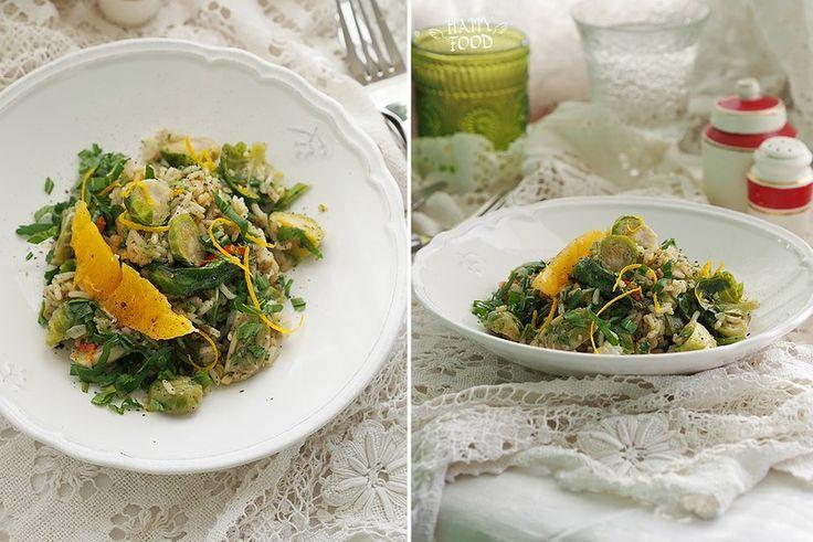 Рис со шпинатом и паровой брюссельской капустой (готовлю с помощью посуды iCookTM) - HAPPYFOOD