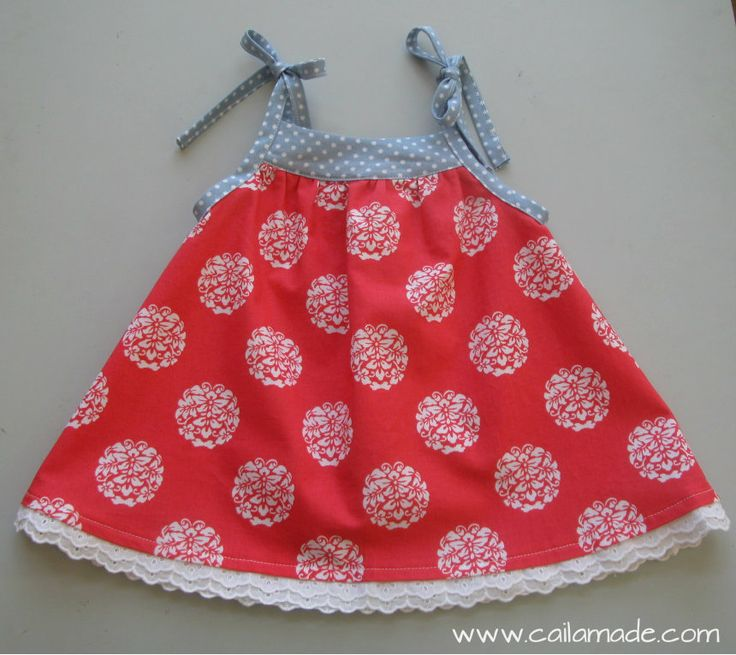 Tied Summer Dress in red