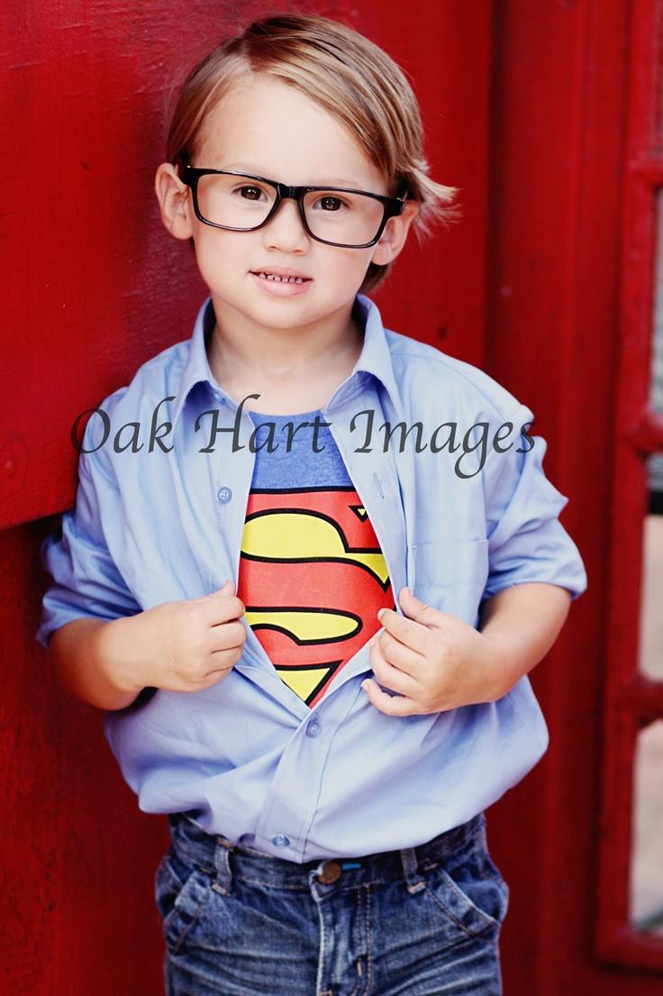 Oak Hart Images~Clark Kent Superman Photo shoot Hero photography Boy birthday photo ideas themed birthday