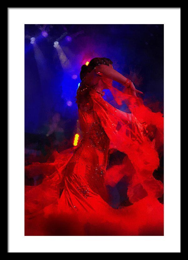 Jenny Rainbow Fine Art Photography Framed Print featuring the photograph Flame Dance by Jenny Rainbow