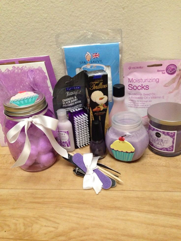 Fun spa in a bag gift! Because every girl deserves to be pampered, even if it's at home!