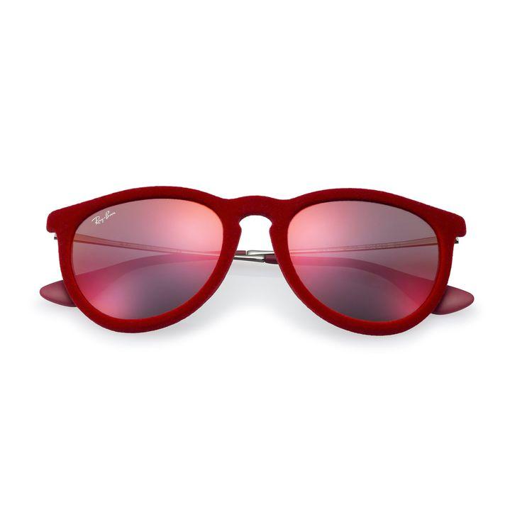 Óculos De Sol Ray-Ban Erika Veludo RB4171 Vermelho - Marca Ray-Ban