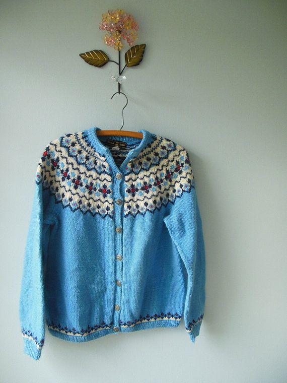 saga of Norway vintage sweater / cardigan / by RockThatFrock