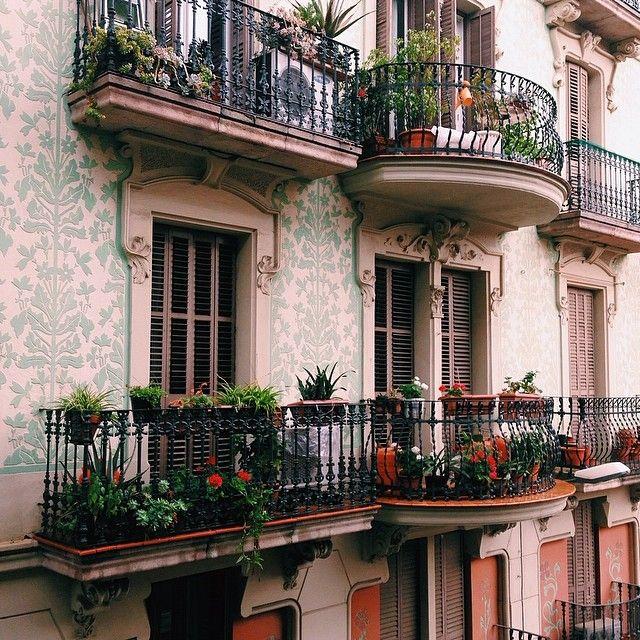 sweet apartment terrace gardens in barcelona, spain