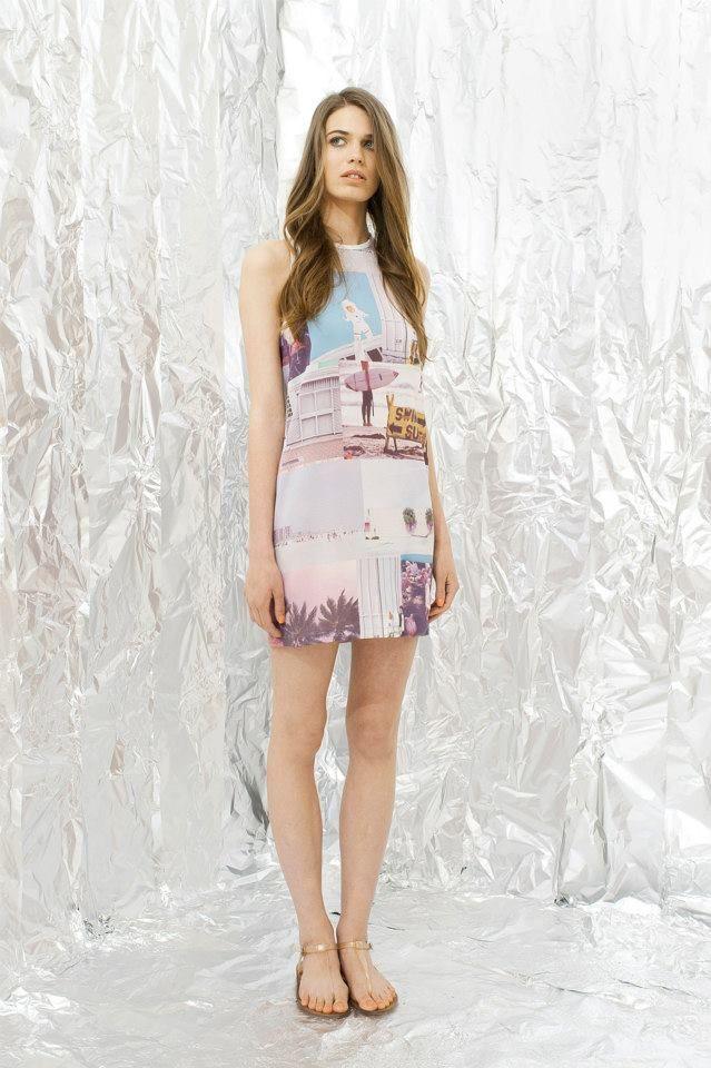 Beautiful printed dress by a Hungarian fashion designer, Daige #dress #hungariandesigners #fashion