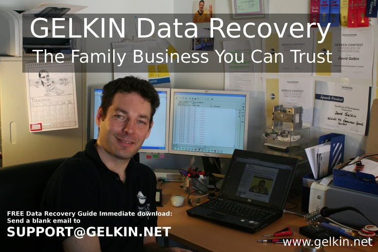 At GELKIN.net we have the education certificates, and industry knowledge to ensure the best outcome for your data loss situation.  Nothing to fear, just call Dave +358 (0)50-544 1488
