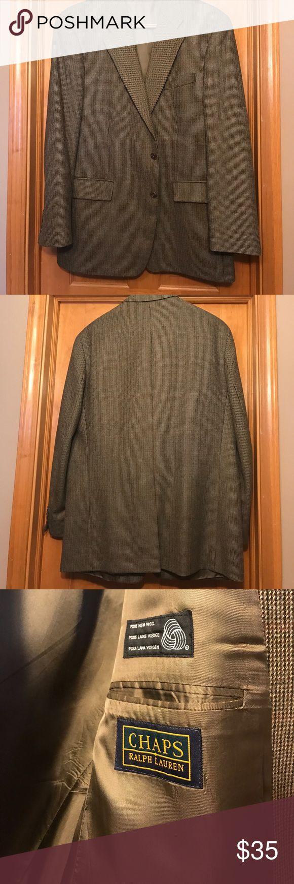 Ralph Lauren  Blazer 46L multi Brown Tweed used Ralph Lauren Chaps 46L blazer, multi brown tweed pattern 100% wool gently used Ralph Lauren Suits & Blazers Sport Coats & Blazers