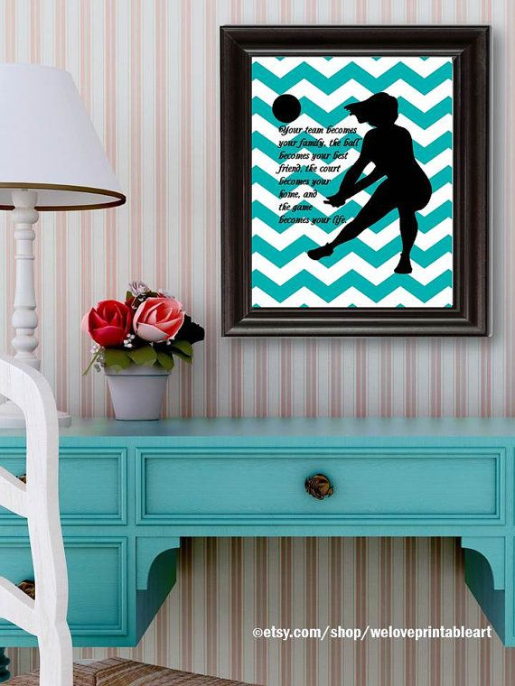 Volleyball Gifts Sports Decor Gifts for par WeLovePrintableArt