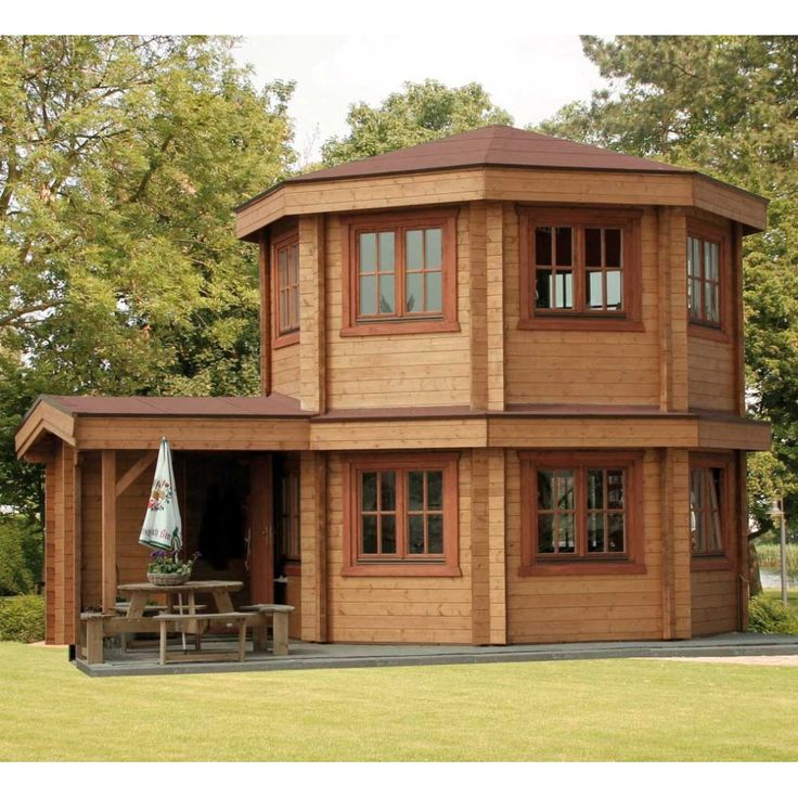 Bertsch Toulouse Log Cabins Summer House, two Storey Summer House