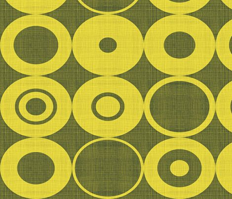 yellow orbs fabric by chicca_besso on Spoonflower - custom fabric