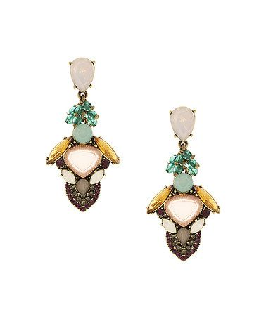 This Green Crystal Teisha Drop Earrings is perfect! #zulilyfinds