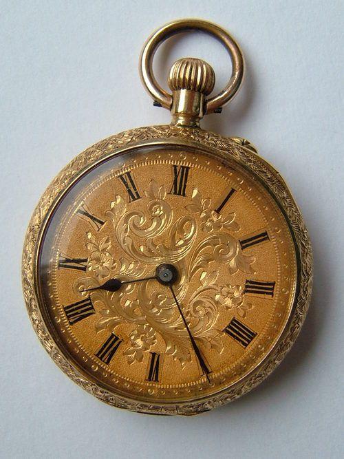 Antiques Atlas - Superb Victorian 18K Gold Fob Pocket Watch