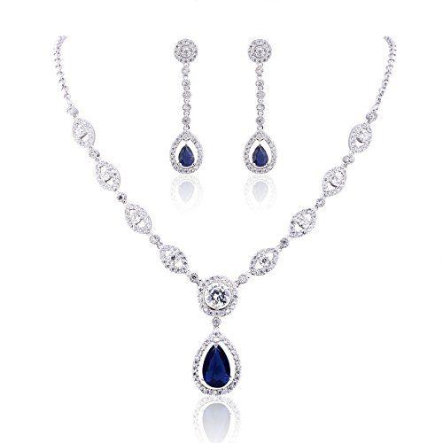 #GULICX #Zirkonia #CZ #Blau #Saphir #Farbe #Silber-Ton #Mode #Ohrringe und #Halskette und #Anhänger #Schmucksets GULICX Zirkonia CZ Blau Saphir Farbe Silber-Ton Mode Ohrringe und Halskette und Anhänger Schmucksets, , Mode Ohrringe und Halskette und Anhänger Schmucksets. Hergestellt aus Zirkonia, die als Ersatz für Diamant bekannt ist., Halskette Gewicht: 13g. Halskette Länge: 49cm(19Inch). Anhänger Maße: 3.2cm*1.4cm. Ein Ohrring Gewicht: 2.5g. Ohrring Maße: 4.2cm*1cm, Werden in einem…