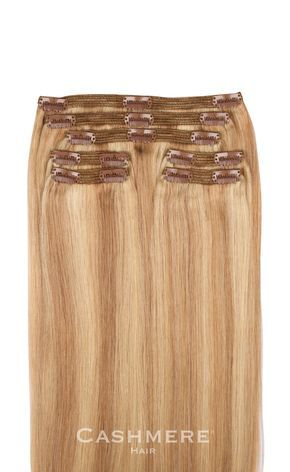 CASHMERE HAIR - Sunset Blonde Clip In Hair Extensions, $179.95 (https://cashmerehairextensions.com/sunset-blonde-clip-in-hair-extensions/)