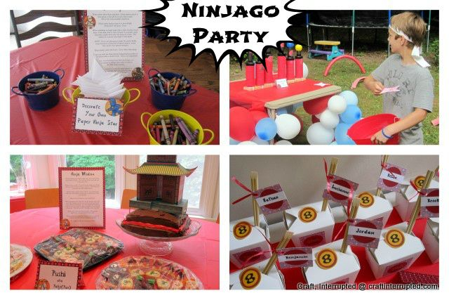 Excellent Ninjago Party - tons of ideas, and she has separate posts on how she did some of the things. Awesome!