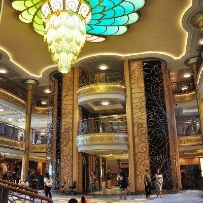 the lobby of the Disney Fantasy