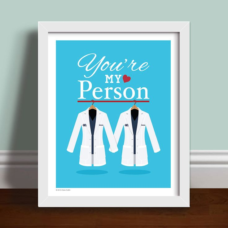 You're My Person Quote - Personalised Grey's Anatomy Lab Coats (22.00 USD) by OperationPumpkin