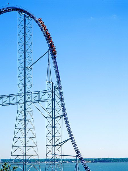 Bucket List: Cedar Point, Sandusky, Ohio  seems to be the place to be, because it has four rides in our top 50, two in the top 5. This one is Millennium Force, which is a mammoth at 6,595 feet long. Two 122-degree over-banked turns take the stage here, working in tandem with a 300-foot drop and 80 degrees of holy crap.