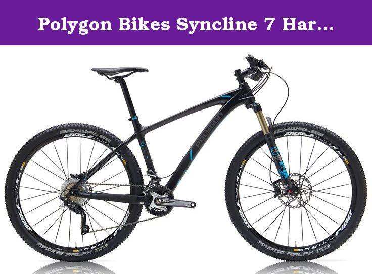 Polygon Bikes Syncline 7 Hardtail Mountain Bicycles Black Cyan