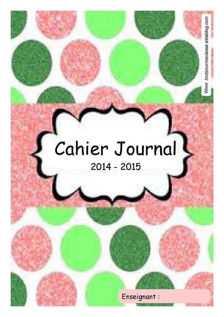 page de garde - cahier journal   Ecole   Pinterest   Journals