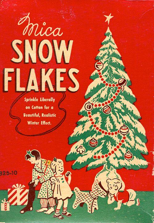 Mica snowflakes.