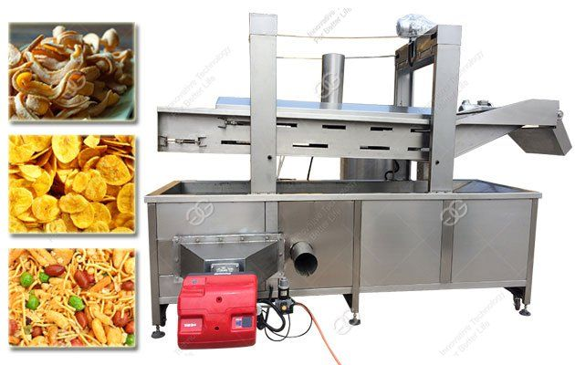 Continuous Batch Pork Rinds Fryer Machine is suitable for frying pork skin.