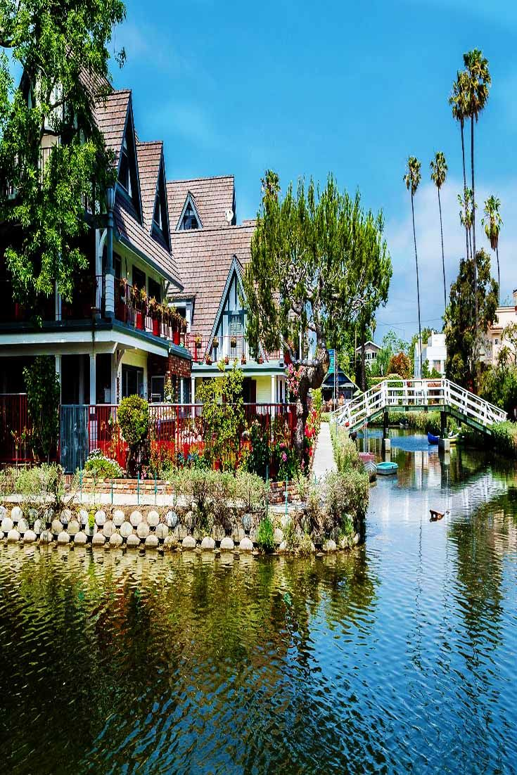 Spare a short while to tour the Venice Canals. The geese and ducks offers a break from the hustle of city life.